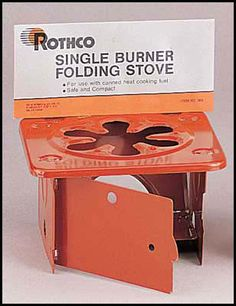 Camping Stove, that folds up.  Just bring fuel and you are set!