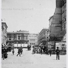 Foto storiche di Roma - Vista di Piazza Venezia e Via Quattro Novembre Anno: 1890