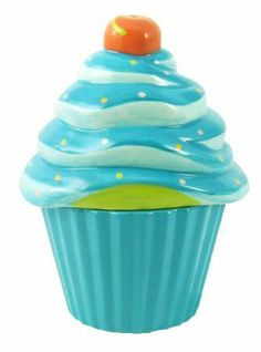 Dennis East Ceramic Cupcake Canisters - Blue by Dennis East. $12.95. ceramic birthday-Decorate for birthdays or other. cupcake canisters. The tasty-looking frosting lid. special occasions with these large colorful. is topped with a blue flower or red cherry and. trendy blue green orange pink cupcake canister. Decorate for birthdays or other special occasions with these large colorful cupcake canisters. The tasty-looking frosting lid is topped with a blue flower...