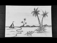 Scenery Drawing With Pencil || Nature Scenery Drawing Easy || Landscape Drawing || Pencil Sketching - YouTube Pencil Sketching, Pencil Drawings, Landscape Drawings, Nature Scenes, Easy Drawings, Scenery, Youtube, Painting, Art