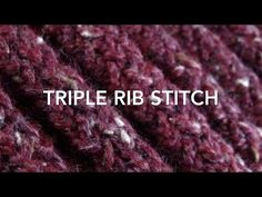 Loom Knit, Triple Rib Stitch, My Crafts and DIY Projects