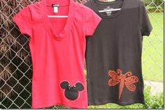Bleach Pen & Reverse Applique Shirts