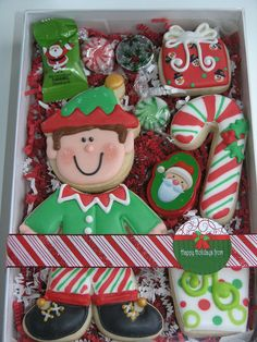 Little Elf segmented Cookie Set - 2011 by East Coast Cookies, via Flickr