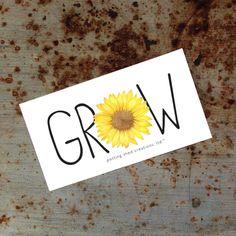 Potting Shed Creations, LTD. STICKERS!!!! #idahome #grow #stickers #sunflower  #pottingshedcreations #garden #gardener