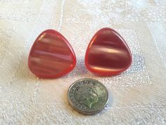 Vintage 50s Pink Moonglow Earrings for Pierced Ears. by GothiqueGirl on Etsy