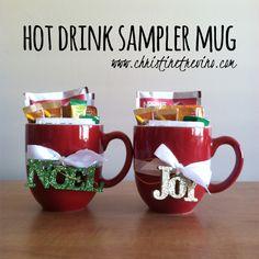 Hot Drink Sampler Mug {and Christmas gift tag printable} | christine trevino