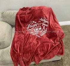 personalized blankets 50x60 custom family blanket pinterest