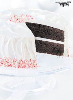 Gâteau au chocolat et aux cannes de bonbon #recette