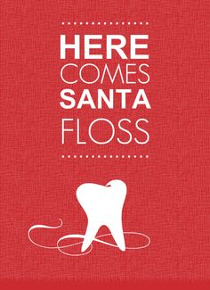 Red Dental Office Holiday Greeting Card