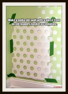 Polka dot wall template