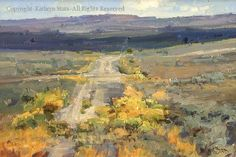 Old Highway 6 - Oil by Kathryn Stats