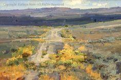 Kathryn Stats . Old Highway 6 . lovely brushwork and color palette