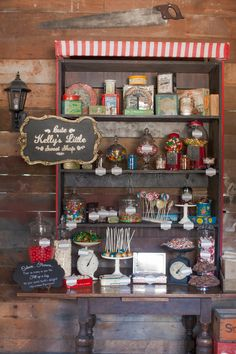 A good old-fashioned sweet shop.  This Candy shop and everything in it is available from Vintage & Pretty.    Photography by Candy Capco