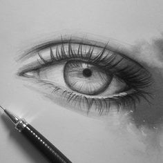 "12.4 mil curtidas, 45 comentários - Daily Art (@artistsuniversity) no Instagram: ""Great eye artwork... hey guys I'm gonna try to make a tutorial on "" how to draw a realistic eye"" on…"""