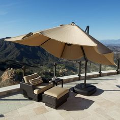 Portofino 10 foot Resort Umbrella in Heather Beige