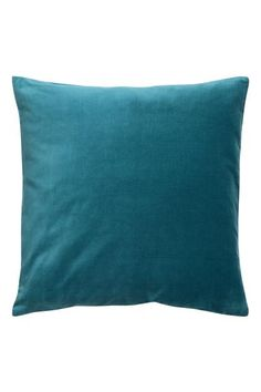 Cushion cover in cotton velvet with a concealed zip.