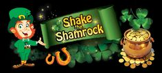 Shake the Shamrock: 4th - 29th March 2016 Celebrate St. Paddy's with Up to £2000 in bonuses + up to 900 FREE SPINS on our amazing Electric Sam Slot.  Get 10 Free Spins: Deposit between 30-75 using deposit code: CLOVER  10% up to £/€100 + 30 Free spins: Deposit between 75-150 using deposit code: JOLLY  20% up to £/€100 + 50 Free spins: Deposit between 150 or more using deposit code: GOLD  Play now at LuckyWinSlots: https://goo.gl/W60qBd #stpatricksday #slots #luckywinslots