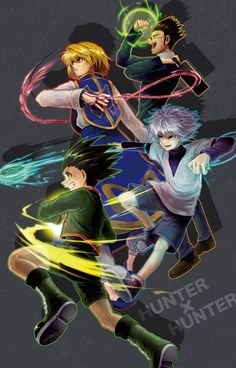 Kurapika, Leorio, Killua and Gon