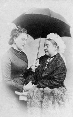 Queen Victoria with daughter Princess Beatrice, 1879