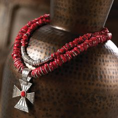 Red Coral & Silver Jewelry