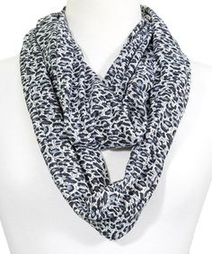 Another great find on #zulily! Black Leopard Infinity Scarf #zulilyfinds