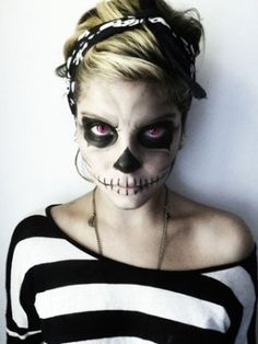 Maquillaje Halloween: Calaveras mexicanas 1