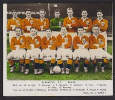 Sport Magazine - Football Team Groups 1949/50 - Blackpool