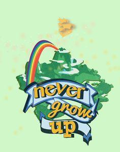 peter pan.. never grow up.. inspirational by studiomarshallarts, $5.00
