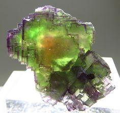 """bijoux-et-mineraux: """" Rainbow Fluorite - Bergmännisch Glück Mine, Frohnau, Erzgebirge, Saxony, Germany """""""