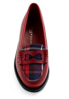Rachel Antonoff for Bass Kissing Hearts Flat in Plaid | Mod Retro Vintage Flats | ModCloth.com
