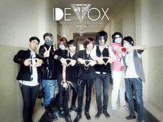 Detox band with crew & friend #visualkei #band #jrock #detox #gazette #japan #indonesia