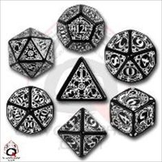 Steampunk Dice BlackWhite 7 Stk Board Game *** Check out the image by visiting the link.