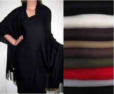 Discount Cashmere Shawls Wraps 4 ply Collection - women love the soft warmth and affordability. $64.99 each many colors in stock.