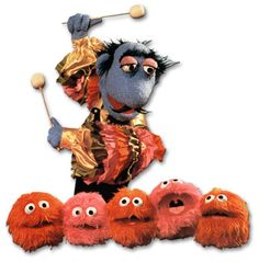 Marvin Suggs, the demented Whatnot musician, appeared many times on The Muppet Show playing the Muppaphone, an instrument made up of living balls of fluff.