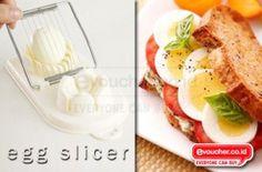 Egg Slicer Alat Yang Memudahkanmu Memotong Dan Mengiris Telur Rebus Dalam Sekejap Hanya Rp.39,000 - www.evoucher.co.id #Promo #Diskon #Jual  klik > http://www.evoucher.co.id/deal/Egg-Slicer  Dengan Egg Slicer EVFriends akan mendapatkan potongan telur rebus yang rapih dan cepat, jadi menu hidangan yang kamu buat akan semakin cantik dan menggugah selera. Egg slicer dapat juga digunakan untuk mengiris buah - buahan (Strawberry, Kiwi, dll)  pengiriman mulai tanggal 2013-10-