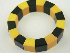 Art Deco Jewelry Bakelite Bracelet. I have this only in teal and green-KB
