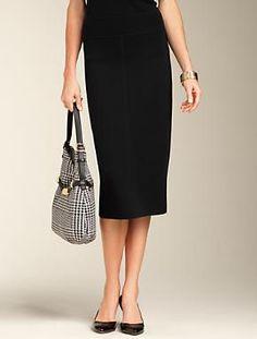 Talbots - Merino Wool Straight Skirt