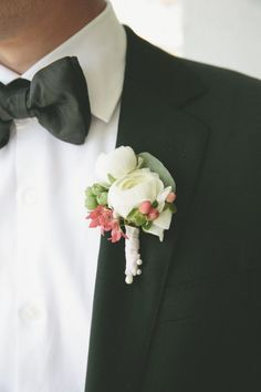 #boutonniere Photography by onelove-photo.com Design + Coordination by mybridestory.com/index2.php Floral Design by fleuretica.com  Read more - http://www.stylemepretty.com/2013/07/31/west-hollywood-wedding-from-onelove-photography/