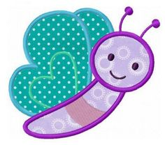 Happy butterfly applique machine embroidery design by FunStitch, $4.00