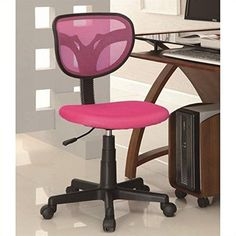 Coaster 800055P Mesh Fabric Adjustable Height Task Chair Pink *** Check out the image by visiting the link.Note:It is affiliate link to Amazon.