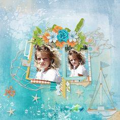 The Blue Sea by Eudora Designs Template by Akizo Designs Photo Caroline