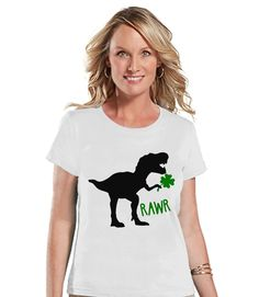 Now available on our store: Womens St Patrick.... Check it out here! http://7ate9apparel.com/products/womens-st-patricks-day-shirt-ladies-dinosaur-st-paddys-day-tee-dino-st-patricks-day-gift-for-her-funny-lucky-dinosaur-white-t-shirt?utm_campaign=social_autopilot&utm_source=pin&utm_medium=pin