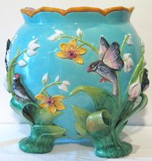 George Jones Majolica Jardinere ~ 19th century