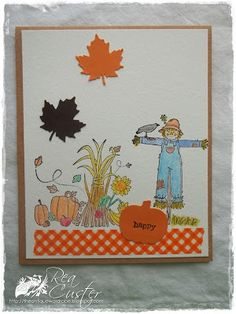 Rea Cluster created this adorable fall card for the 100 days of Tombow Program! #tombow100