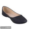 Refresh Women's 'Demi'-05' Round-toe Ballet Flats {#shoelove #cuteflats #blackflats #balletflats}