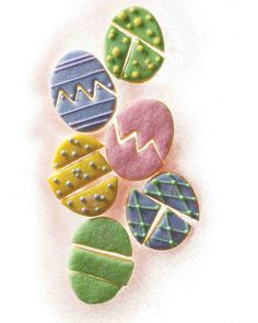 Easter Egg Puzzle Cookies. Wow, fun!