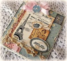 Love the layers of vintage items