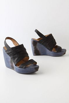 Shibori Stacked Wedges from annthropologie