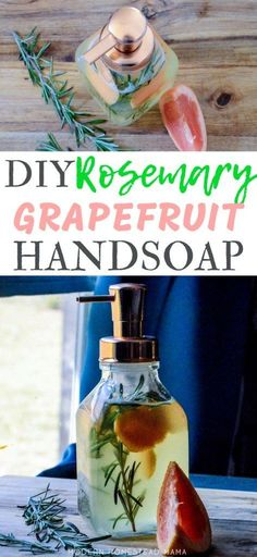 DIY Liquid Hand Soap Recipe - Fresh Rosemary and Grapefruit Learn how to make DIY Liquid Hand Soap with Fresh Rosemary, Grapefruit, and Essential Oils. This homemade recipe is simple and doesn't separate as often. Perfume Good Girl, Perfume Lady Million, Perfume Glamour, Perfume Versace, Diy Peeling, Perfume Calvin Klein, Tips, Essential Oils, Soaps