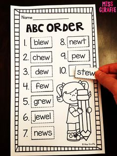 abc order of phonics of the week words